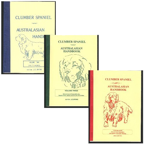 book (set): Clumber Spaniel Australasian Handbook vols 2-4 edited by Jan Irving